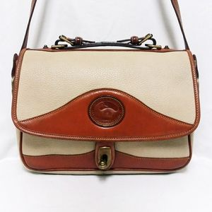 Dooney & Bourke Tan Leather Crossbody Handbag